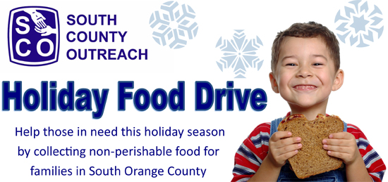 Holiday Canned Food Drive South Orange County
